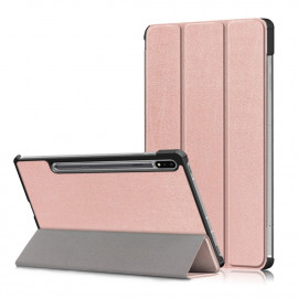 Tri-Fold Book Case Samsung Galaxy Tab S7 Hoesje - Rose Gold