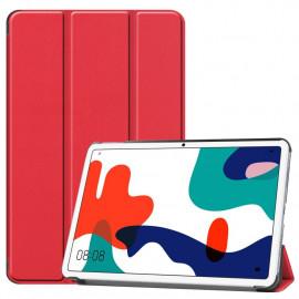 Tri-Fold Book Case Huawei MatePad 10.4 Hoesje - Rood