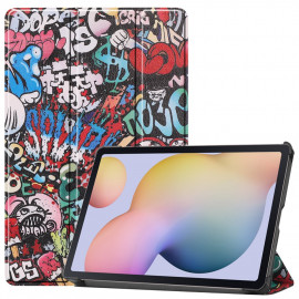 Tri-Fold Book Case Samsung Galaxy Tab S7 Hoesje - Cartoon