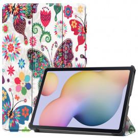 Tri-Fold Book Case Samsung Galaxy Tab S7 Hoesje - Vlinders