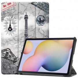 Tri-Fold Book Case Samsung Galaxy Tab S7 Hoesje - Eiffeltoren