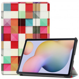 Tri-Fold Book Case Samsung Galaxy Tab S7 Hoesje - Colour Squares