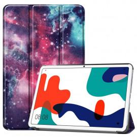 Tri-Fold Book Case Huawei MatePad 10.4 Hoesje - Galaxy