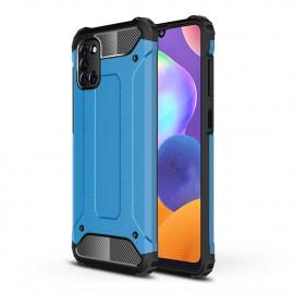 Armor Hybrid Samsung Galaxy A31 Hoesje - Lichtblauw
