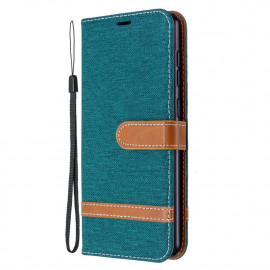 Denim Book Case Samsung Galaxy A31 Hoesje - Groen