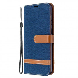Denim Book Case Samsung Galaxy A31 Hoesje - Blauw