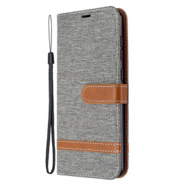 Denim Book Case Samsung Galaxy A31 Hoesje - Grijs
