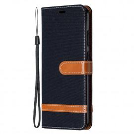 Denim Book Case Nokia 5.3 Hoesje - Zwart