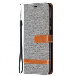 Denim Book Case Nokia 5.3 Hoesje - Grijs