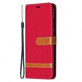 Denim Book Case Nokia 5.3 Hoesje - Rood