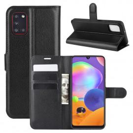 Book Case Samsung Galaxy A31 Hoesje - Zwart