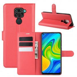 Book Case Xiaomi Redmi Note 9 Hoesje - Rood