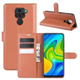 Book Case Xiaomi Redmi Note 9 Hoesje - Bruin