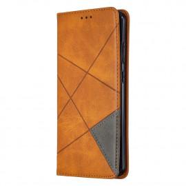 Geometric Book Case Nokia 5.3 Hoesje - Bruin