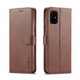 Luxe Book Case Samsung Galaxy A31 Hoesje - Donkerbruin