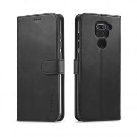 Luxe Book Case Xiaomi Redmi Note 9 Hoesje - Zwart