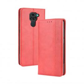 Vintage Book Case Xiaomi Redmi Note 9 Hoesje - Rood