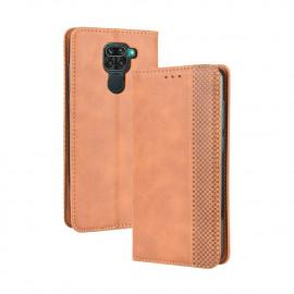 Vintage Book Case Xiaomi Redmi Note 9 Hoesje - Bruin