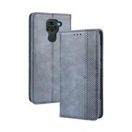 Vintage Book Case Xiaomi Redmi Note 9 Hoesje - Blauw