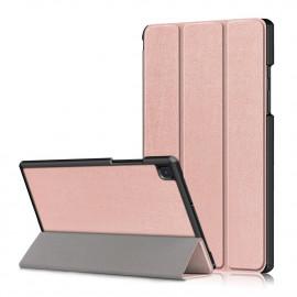 Tri-Fold Book Case Samsung Galaxy Tab A7 Hoesje - Rose Gold
