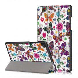 Tri-Fold Book Case Samsung Galaxy Tab A7 Hoesje - Vlinders