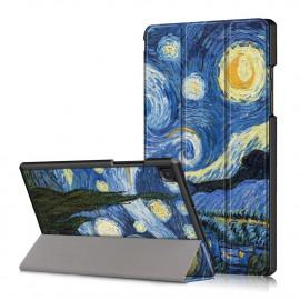 Tri-Fold Book Case Samsung Galaxy Tab A7 Hoesje - Sterrennacht