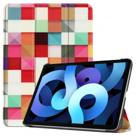 Tri-Fold Book Case iPad Air (2020) Hoesje - Colour Squares