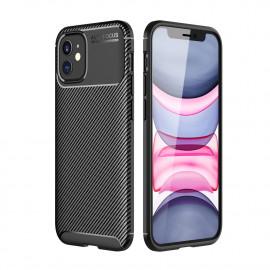 Carbon Fiber TPU Case iPhone 12 Mini Hoesje - Zwart