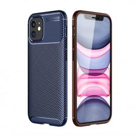 Carbon Fiber TPU Case iPhone 12 Mini Hoesje - Blauw