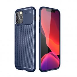 Carbon Fiber TPU Case iPhone 12 Pro Max Hoesje - Blauw