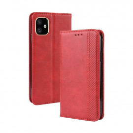 Vintage Book Case iPhone 12 Hoesje - Rood