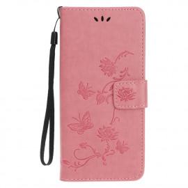 Bloemen Book Case iPhone 12 Pro Max Hoesje - Pink