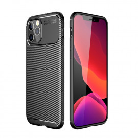 Carbon Fiber TPU Case iPhone 12 Pro Hoesje - Zwart