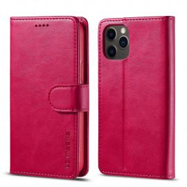 Luxe Book Case iPhone 12 Hoesje - Roze