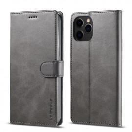 Luxe Book Case iPhone 12 Mini Hoesje - Grijs