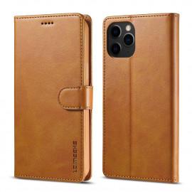 Luxe Book Case iPhone 12 Mini Hoesje - Bruin