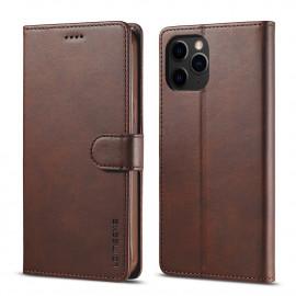 Luxe Book Case iPhone 12 Mini Hoesje - Donkerbruin