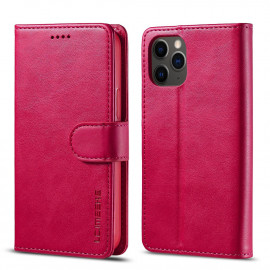 Luxe Book Case iPhone 12 Pro Hoesje - Roze