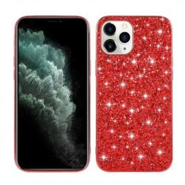 Glitter TPU iPhone 12 Mini Hoesje - Rood