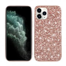 Glitter TPU iPhone 12 Mini Hoesje - Rose Gold