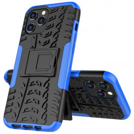 Rugged Kickstand iPhone 12 Pro Max Hoesje - Blauw