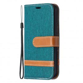 Denim Book Case iPhone 12 Mini Hoesje - Groen
