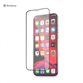Full-Cover Tempered Glass iPhone 12 Pro Max - Zwart