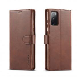 Luxe Book Case Samsung Galaxy S20 FE Hoesje - Donkerbruin