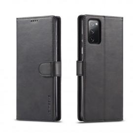 Luxe Book Case Samsung Galaxy S20 FE Hoesje - Zwart