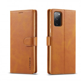 Luxe Book Case Samsung Galaxy S20 FE Hoesje - Bruin