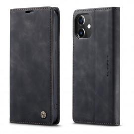 CaseMe Book Case iPhone 12 Mini Hoesje - Zwart