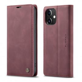 CaseMe Book Case iPhone 12 Mini Hoesje - Bordeaux