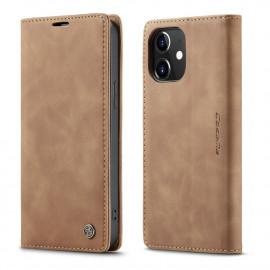 CaseMe Book Case iPhone 12 Mini Hoesje - Bruin