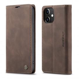 CaseMe Book Case iPhone 12 Mini Hoesje - Donkerbruin